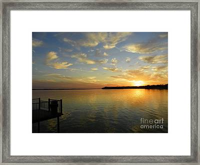 Time To Reflect Framed Print by Robert Jensen