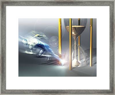 Time Travel, Conceptual Artwork Framed Print by Laguna Design
