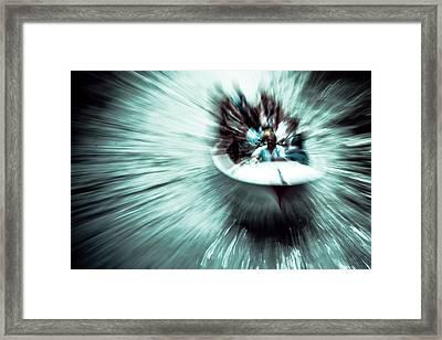 Time Vortex Mustache Boat Framed Print by Justin Albrecht