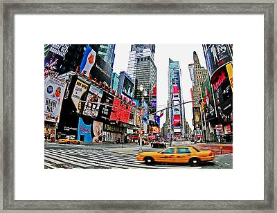 Times Square Framed Print by Marcel Schauer