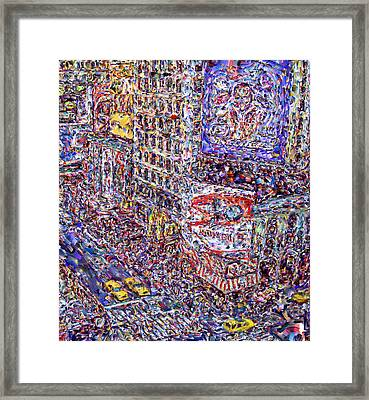 Times Square Framed Print by Marilyn Sholin