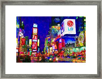 Times Square Framed Print by Michael Petrizzo