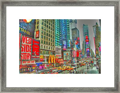 Times Square One Framed Print by Alberta Brown Buller