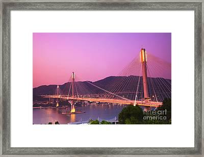 Ting Kau Bridge Framed Print by MotHaiBaPhoto Prints