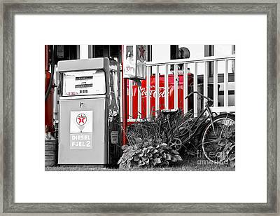 Tinted Fuel For Life Framed Print by Brenda Giasson