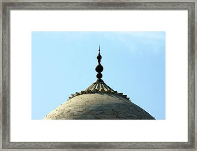 Tip-top Of Taj Framed Print by Ashley St. John