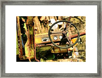 Tired John Deere Framed Print by Cheryl Young