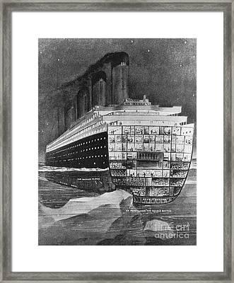 Titanic: Shipwreck, 1912 Framed Print by Granger