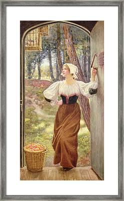 Tithe In Kind Framed Print by Edward Robert Hughes