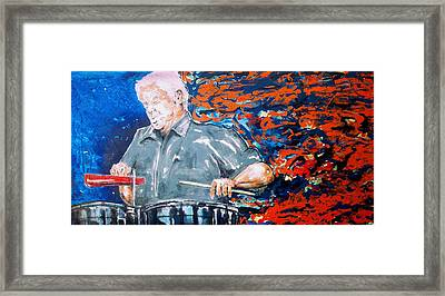 Tito Puente Framed Print by Omar Javier Correa