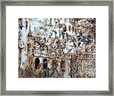 Tivili Fountains Framed Print by Mindy Newman