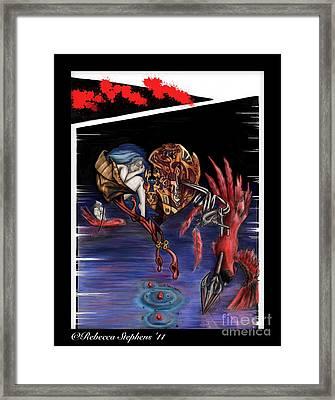 To Kill A Cardinal Framed Print by Rebecca  Stephens