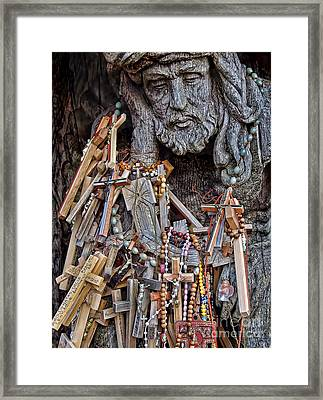 To Lord We Pray Framed Print by Alexandra Jordankova
