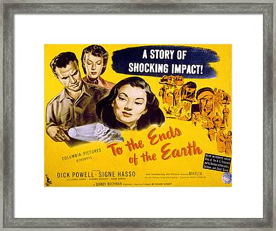 To The Ends Of The Earth, Dick Powell Framed Print by Everett