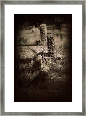To The Grave Framed Print by Mandy Shupp