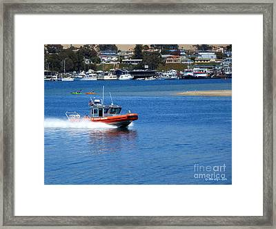 To The Rescue Framed Print by Methune Hively