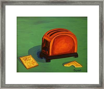 Toaster Framed Print by Cynthia Thomas