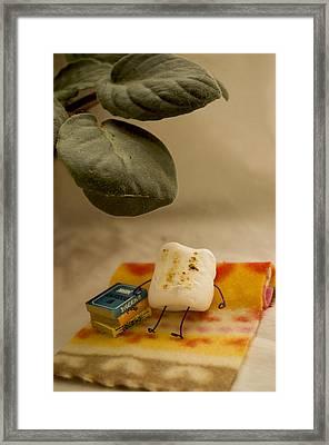 Toasting Framed Print by Heather Applegate