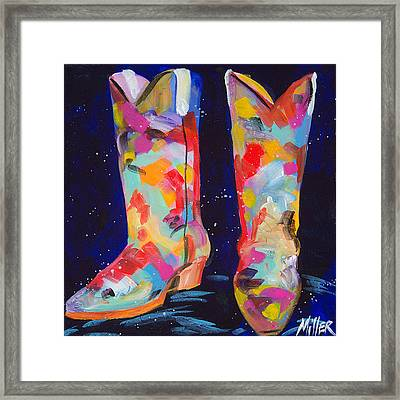 Toe Tappin Framed Print by Tracy Miller
