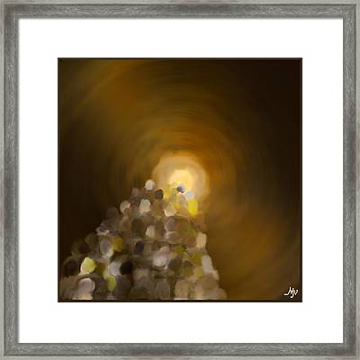 Together Into The Bright Unknown Framed Print by Mathilde Vhargon