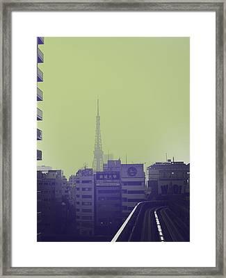 Tokyo City Ride Framed Print by Naxart Studio