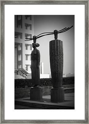Tokyo City Sculptures Framed Print by Naxart Studio