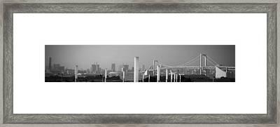 Tokyo Panorama Framed Print by Naxart Studio