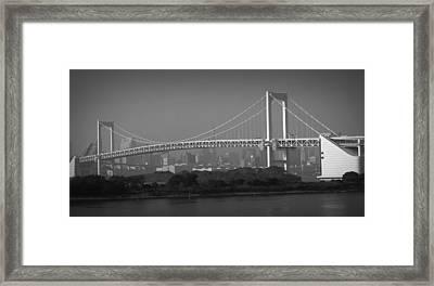 Tokyo Rainbow Bridge Framed Print by Naxart Studio