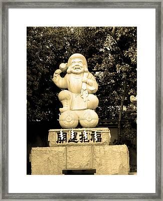 Tokyo Sculpture Framed Print by Naxart Studio