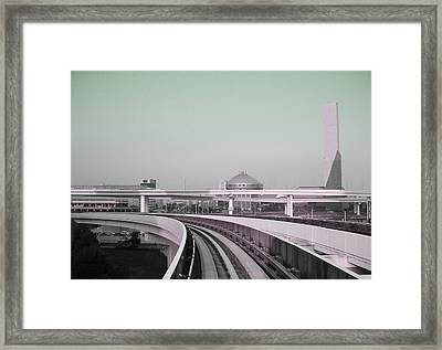 Tokyo Train Ride 2 Framed Print by Naxart Studio