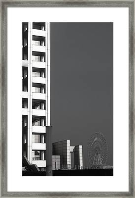 Tokyo's Devil's Wheel Framed Print by Naxart Studio