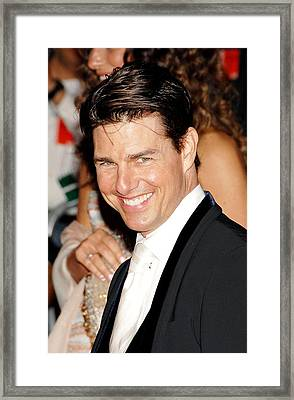 Tom Cruise At Departures For Annual Framed Print by Everett