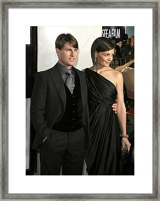 Tom Cruise, Katie Holmes Wearing Framed Print by Everett