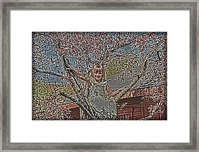 Tomboy In The Tree Framed Print by Randall Branham