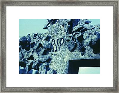 Tombstone Framed Print by Kevin Curtis