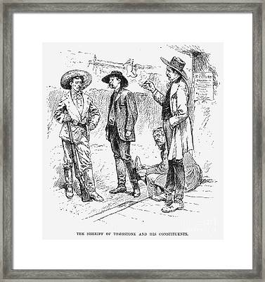 Tombstone Sheriff, 1883 Framed Print by Granger