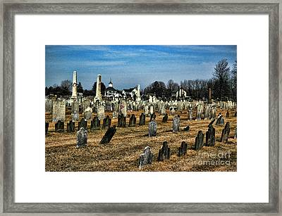 Tombstones Framed Print by Paul Ward