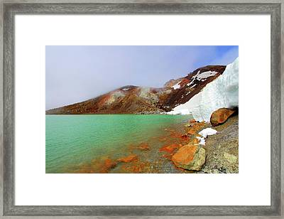 Tongariro Track Emerald Lakes New Zealand Framed Print by Timphillipsphotos