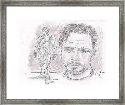 Tony Stark- Ironman Framed Print by Chris  DelVecchio