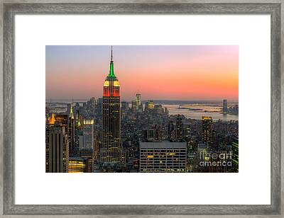 Top Of The Rock Twilight X Framed Print by Clarence Holmes