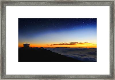 Top Of The World Framed Print by Peter Chilelli