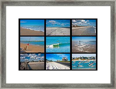 Topsail Island Images Framed Print by Betsy C Knapp