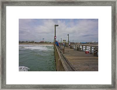 Topsail Island Sc Pier Framed Print by Betsy C Knapp