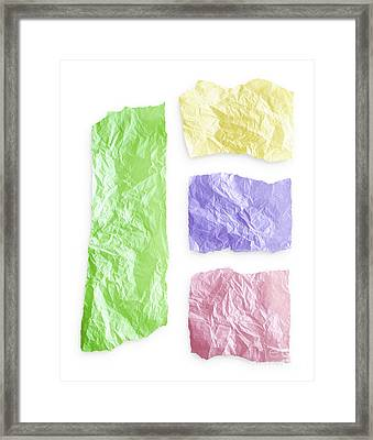 Torn Colorful Paper Framed Print by Blink Images