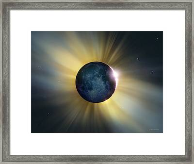Total Solar Eclipse Framed Print by Detlev Van Ravenswaay
