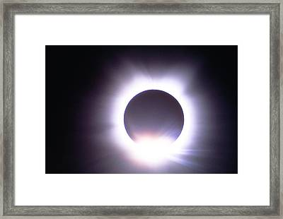 Total Solar Eclipse Of March 7 1970 Framed Print by George East