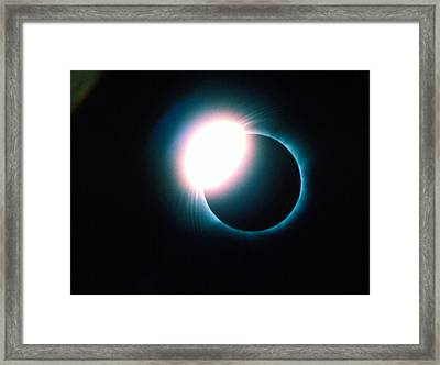 Total Solar Eclipse Showing Diamond Ring Effect Framed Print by Dr Fred Espenak