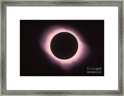Total Solar Eclipse With Corona Framed Print by Science Source
