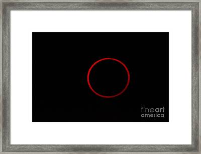 Totality During Annular Solar Eclipse Framed Print by Phillip Jones