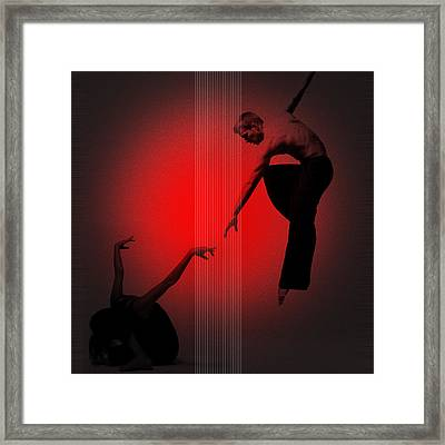 Touch Framed Print by Naxart Studio